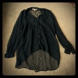 Black button up tunic